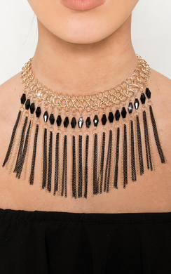 View the Takisha Drop Chain Necklace online at iKrush