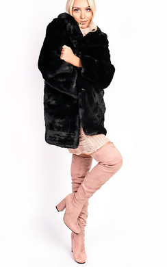 View the Mel Faux Fur Coat online at iKrush