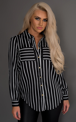 View the Greer Striped Shirt online at iKrush