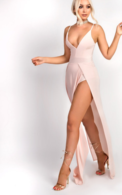 View the Pearla Strappy Split  Maxi Dress online at iKrush
