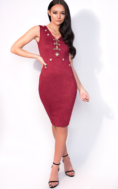 View the Milly Midi Luxe Cut Out Bandage Dress online at iKrush