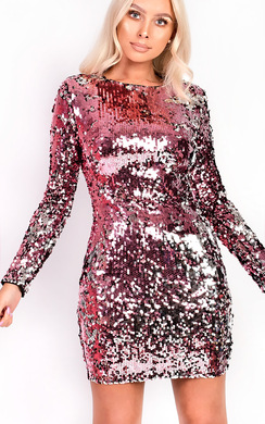 View the Adele Sequin Bodycon Dress online at iKrush