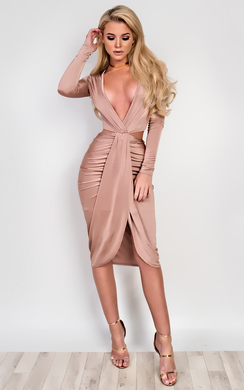 View the Reannah Cut-Out Slinky Dress online at iKrush