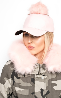 View the Riley Pompom Leather Hat online at iKrush