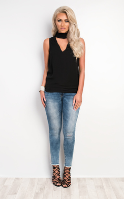 View the Soleil Collared Top online at iKrush