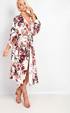 View the Alice Floral Print Longline Kimono online at iKrush