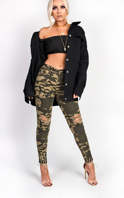 View the Jude Ripped Skinny Camo Jeans online at iKrush