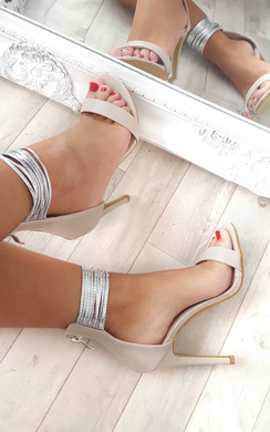 View the Enya Anklet Barely There Heels online at iKrush