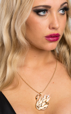 View the Emelina Swan Design Necklace  online at iKrush