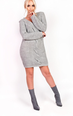 View the Savannah Oversized Knitted Jumper online at iKrush