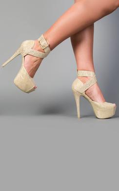 View the Kiandra Platform Glitter Heels online at iKrush