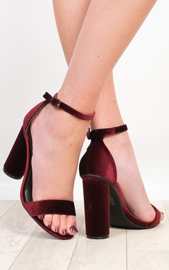View the Evelyne Velvet High Heels online at iKrush