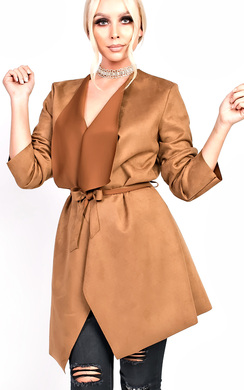 View the Liza Suede Waterfall Coat online at iKrush