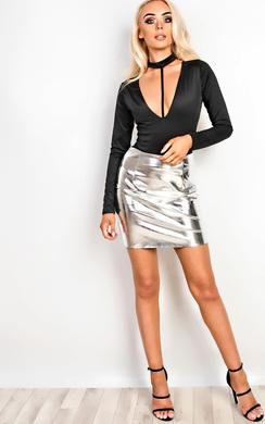 View the Rochelle Metallic Skirt  online at iKrush