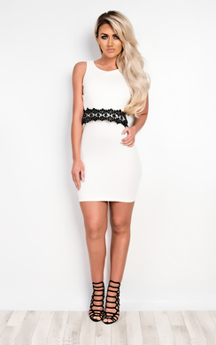 View the Auryn Floral Detail Bodycon Dress online at iKrush