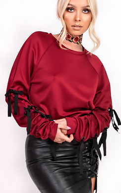 View the Jessy Eyelet Tie Jumper online at iKrush