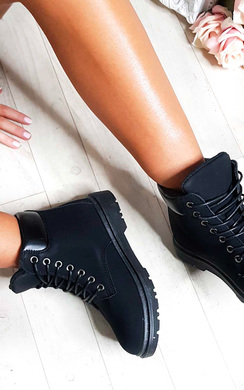 View the Ella Lace Up Boots online at iKrush