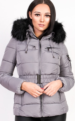View the Hadid Padded Faux Fur Hooded Jacket online at iKrush