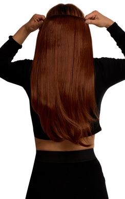 View the Intense Volume Clip In Hair Extensions - Flicky Copper Red online at iKrush