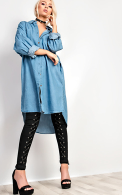 View the Kay Oversized Shirt Dress online at iKrush