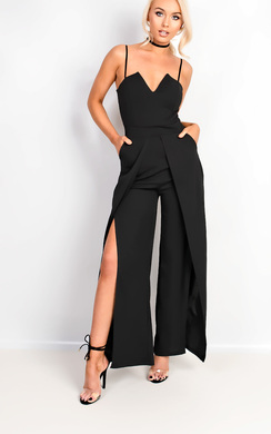 View the Elicia Split Leg Jumpsuit online at iKrush