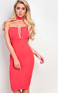 View the Shay Choker Neck Bodycon Dress online at iKrush