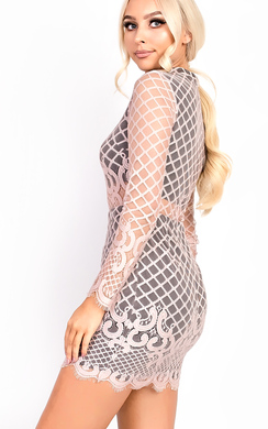 View the Poppy Delicate Lace Bodycon Dress online at iKrush