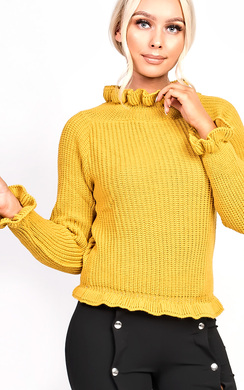 View the Josilee Frill Collar Jumper online at iKrush