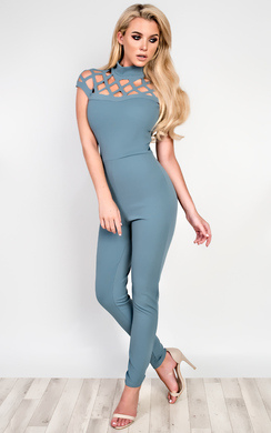 View the Felicity Lasercut Jumpsuit online at iKrush