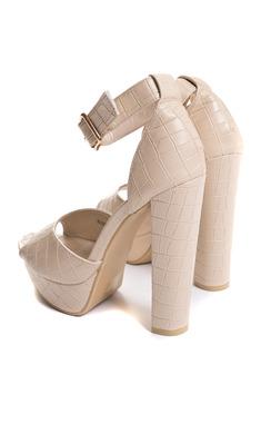 View the Viven Platform Block Heels online at iKrush