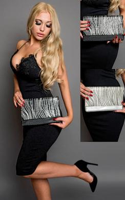 View the Maja Sparkle Stripe Clutch Bag  online at iKrush