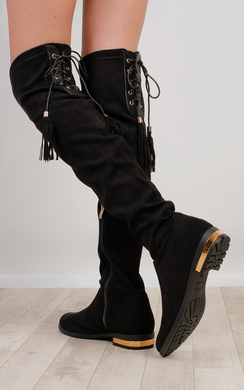 View the Randi Flat Knee High Boots online at iKrush
