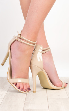 View the Jordyn Patent Strappy High Heels online at iKrush