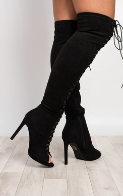 View the Margen Lace Up Faux Suede Boots online at iKrush