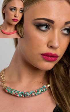 View the Juno Beaded Necklace online at iKrush