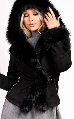 View the Tamsin Faux Suede Fur Jacket online at iKrush