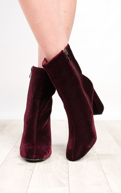 View the Yazmin Velvet Heeled Boots online at iKrush