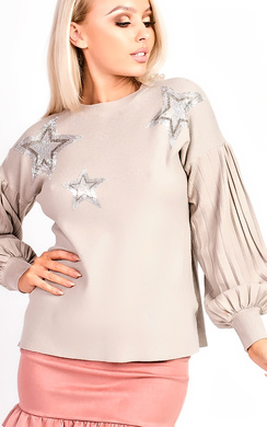 View the Cheryl Knitted Star Embellished Jumper  online at iKrush