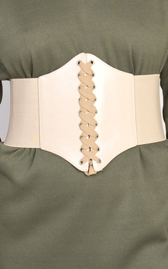 View the Kourt Lace Up Corset Belt online at iKrush