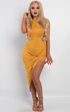 View the Karen Side Split Dress online at iKrush