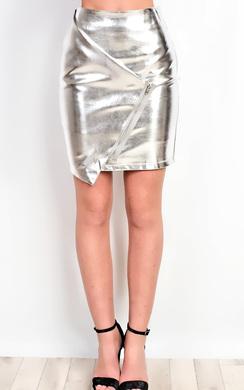 View the Aidrianna Metallic Skirt  online at iKrush
