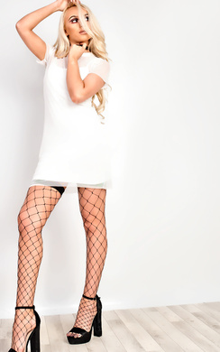 View the Zena Mesh Bodycon Dress online at iKrush