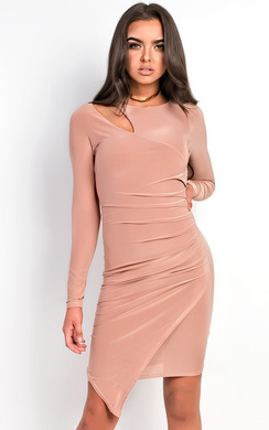 View the Alazia Slinky Ruched Cut out Dress online at iKrush