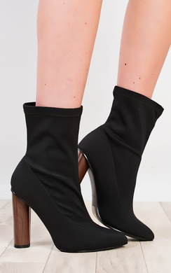 View the Naomi Lycra Heeled Boots  online at iKrush