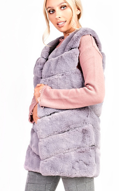 View the Vanessa Faux Fur Waistcoat online at iKrush