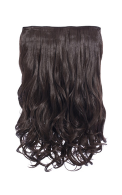 View the Intense Volume Clip In Hair Extensions - Curly Choc Brown  online at iKrush