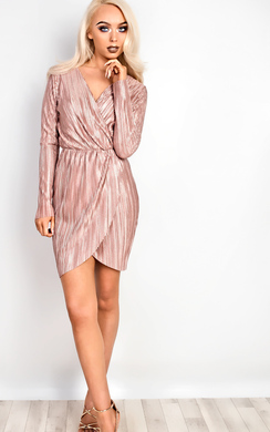 View the Gabby Ribbed Wrap Dress  online at iKrush