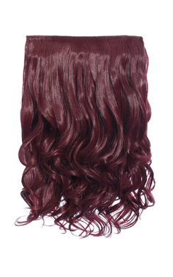 View the Intense Volume Clip In Hair Extensions - Curly Burgundy online at iKrush