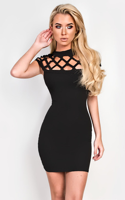 View the Marnie Lasercut Bodycon Dress online at iKrush