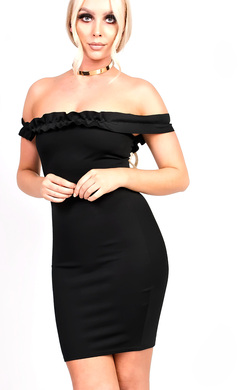 View the Maria Frill Bardot Bodycon Dress online at iKrush
